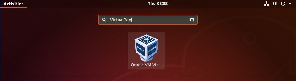 Start VirtualBox 6.0 on Ubuntu 18.04